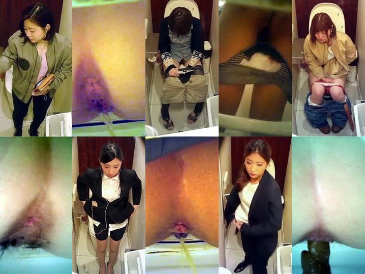 Pooping Voyeur Toilet 無修正 公衆トイレ2カメ盗撮 Spy Camera