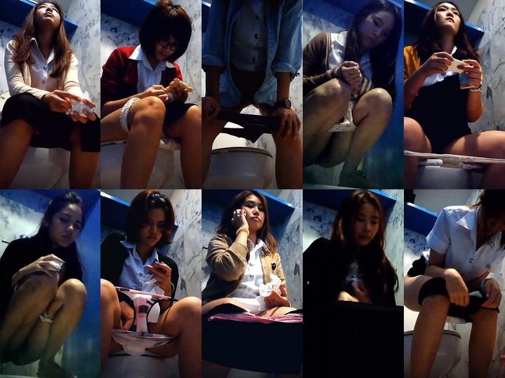 Thailand student toilet 38 thai wc voyeur Spy Camera