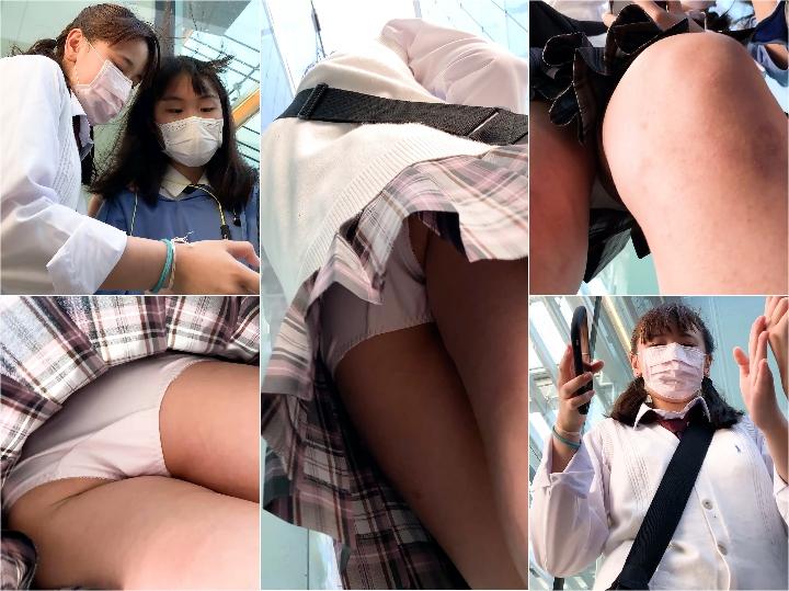 Japanese Voyeur Upskirt 10登校 2下校【制服JK】さかさんぽ No.042 芋… Spy Camera