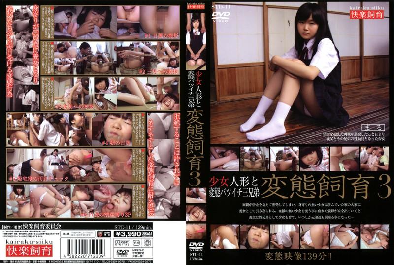 STD-11 少女人形と変態バツイチ三兄弟 変態飼育3 (DOD) 中嶋興業