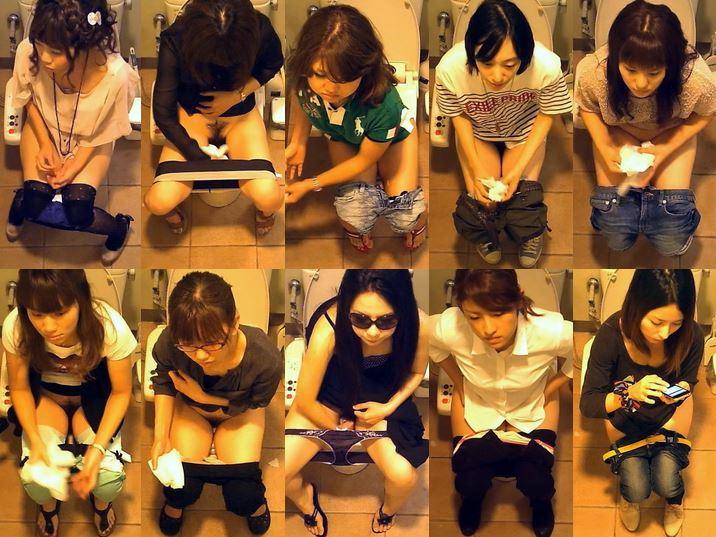 Hidden Cam Toilet 【素朴系JKゲット!】洋式トイレ正面撮り!Pooping Voyeur