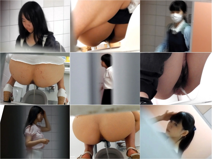 Hidden Cam Toilet 正面顔もアソコも綺麗女全7名超!3名うん Japanese Voyeur