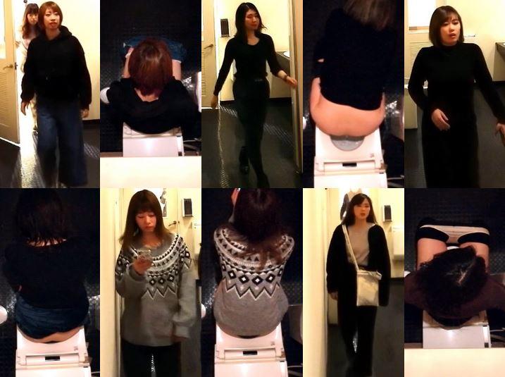 Hidden Cam Toilet 若いOL達の個室観察 リクスー編 No.052 Japanese Voyeur