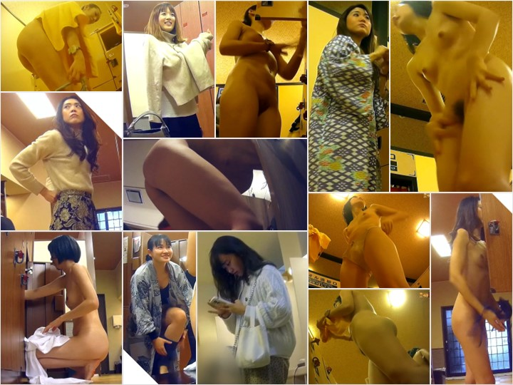 Spy Camera 【女風呂】大型銭湯の絶景すぎる脱衣所パー Shower Locker Room Voyeur