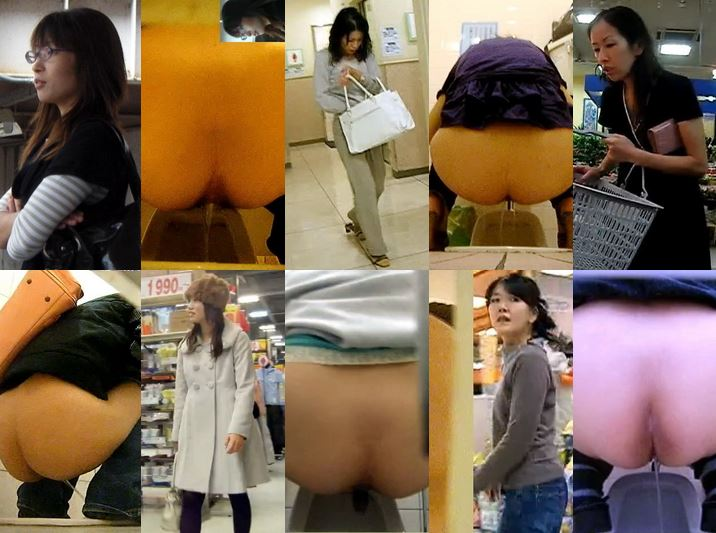 Hidden Cam Toilet Japanese Voyeur 20代から50代まで全10名中大4名 和式盗撮