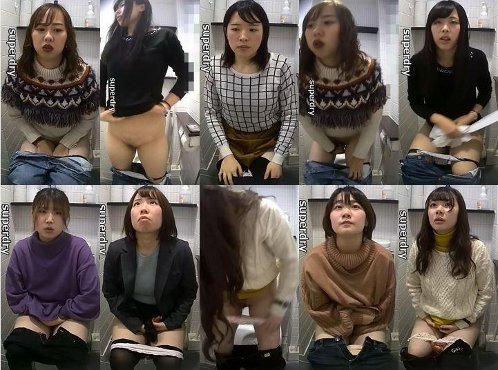 Nude Pussy 美少女Cちゃんの排便姿, トイレ空撮【3人連 Japanese Voyeur