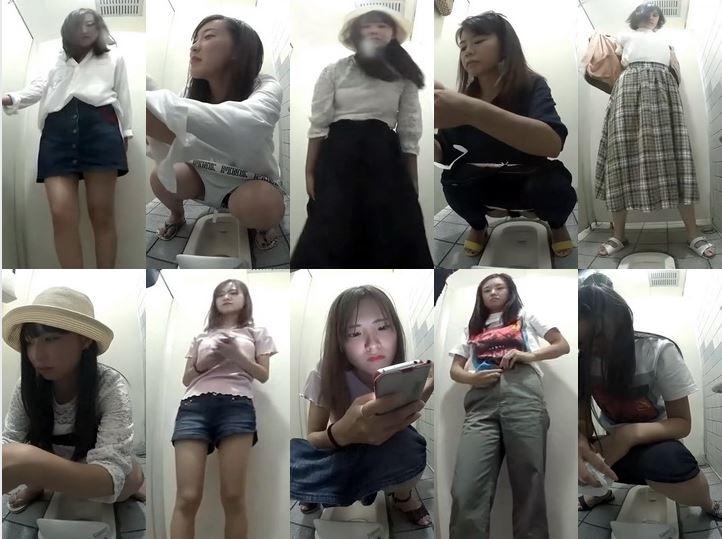 Spy Camera 和式トイレにしゃがむ若い女性たち Toilet Voyeur