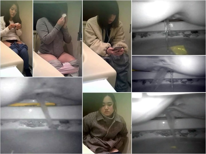 Spy Camera 無】女子大生部屋の横のトイレにこっそり隠